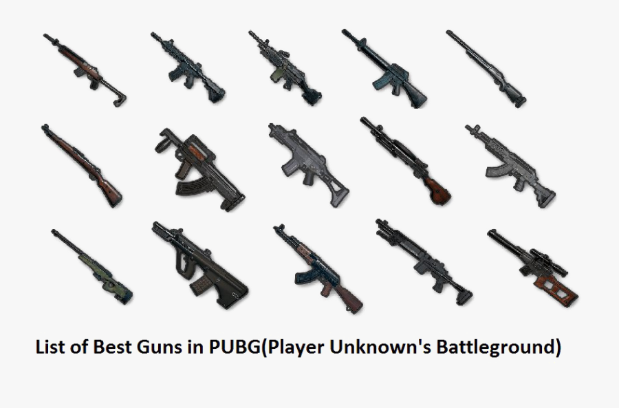 Pubg Gun Png Free Image - Pubg Mobile All Guns, Transparent Clipart
