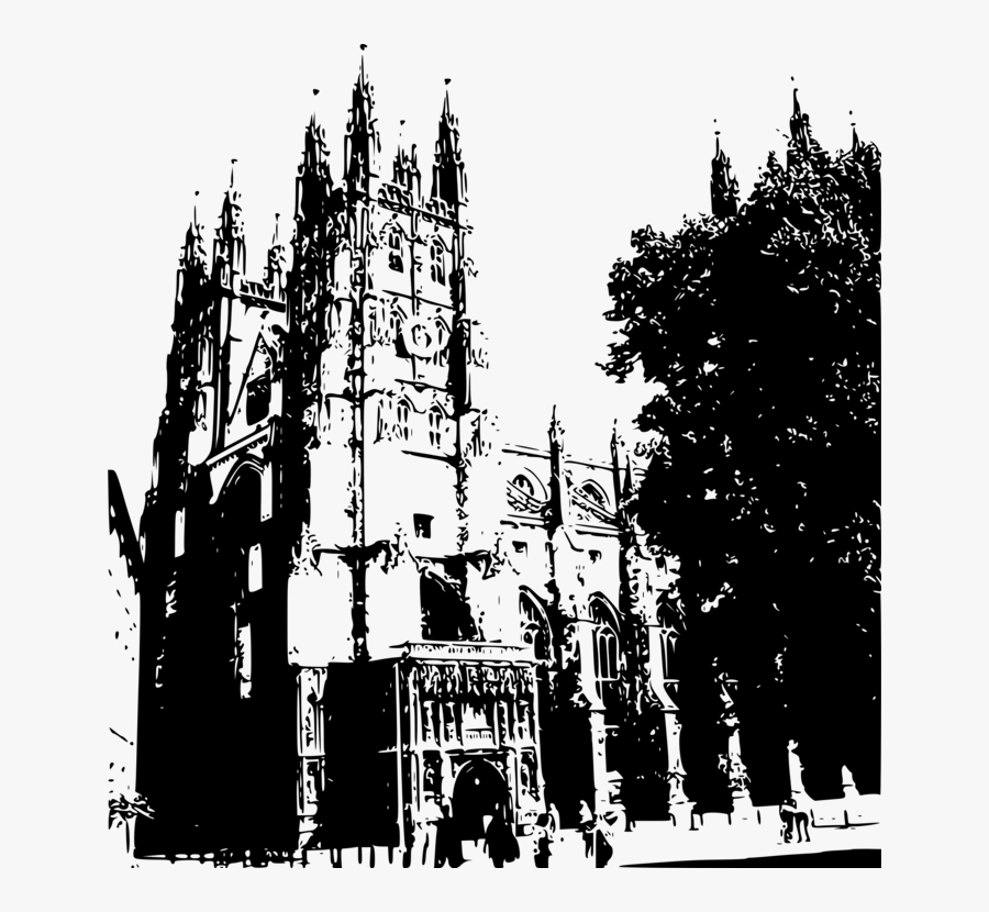 Canterbury Cathedral Vector Png, Transparent Clipart