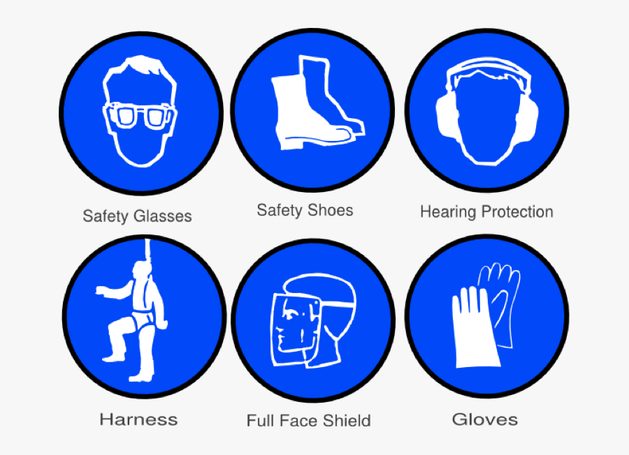 Transparent Safety First Png - Safety Equipment In Workshop, Transparent Clipart