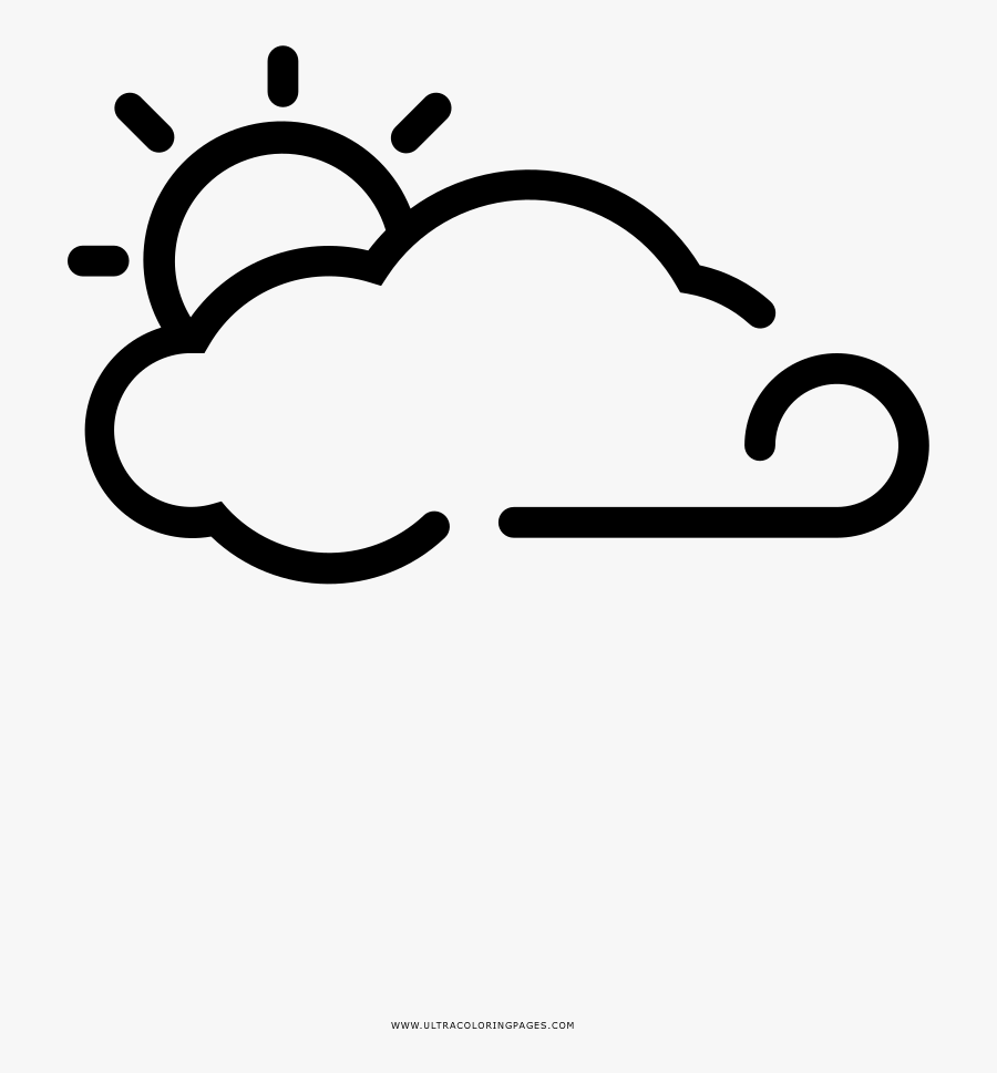 Windy Day Coloring Page, Transparent Clipart