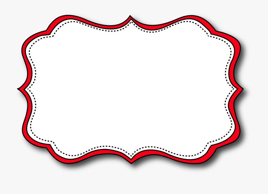 Printable Labels, Printable Paper, Cute Frames, Paper - Cute Name Tag Frame, Transparent Clipart
