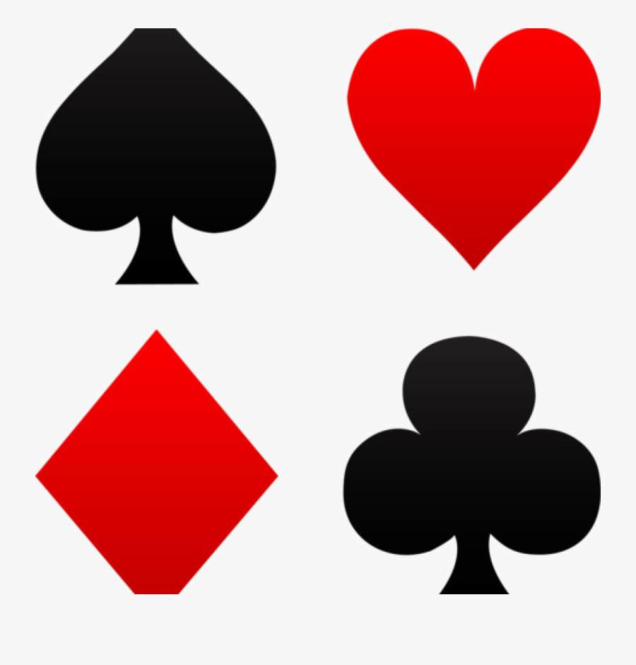 Free Clip Art Playing Cards Free Clip Art Of Red And - Cards Spades Clubs Hearts Diamonds, Transparent Clipart