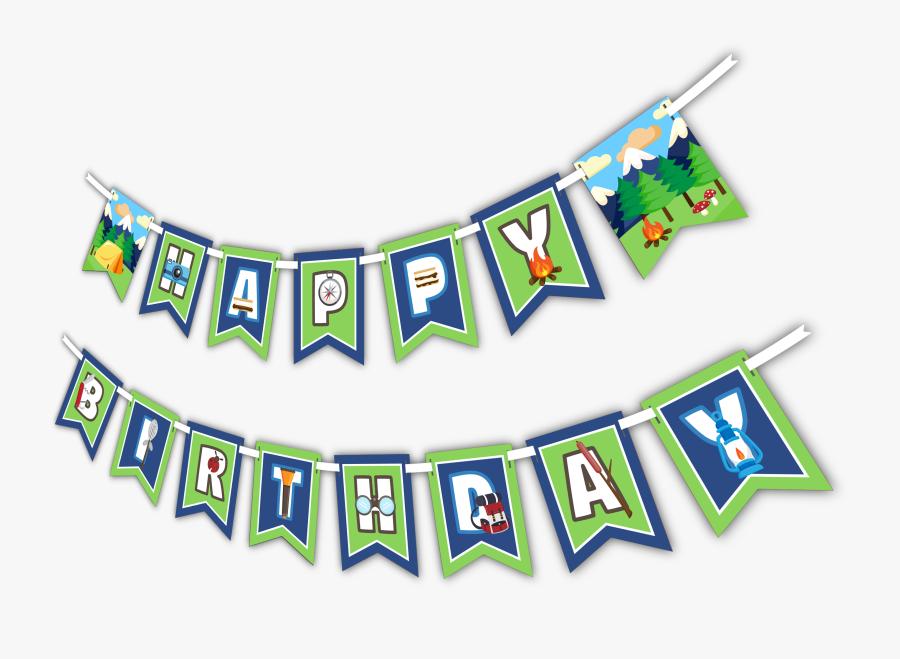 Transparent Happy Birthday Banner Clipart - Camping Happy Birthday, Transparent Clipart