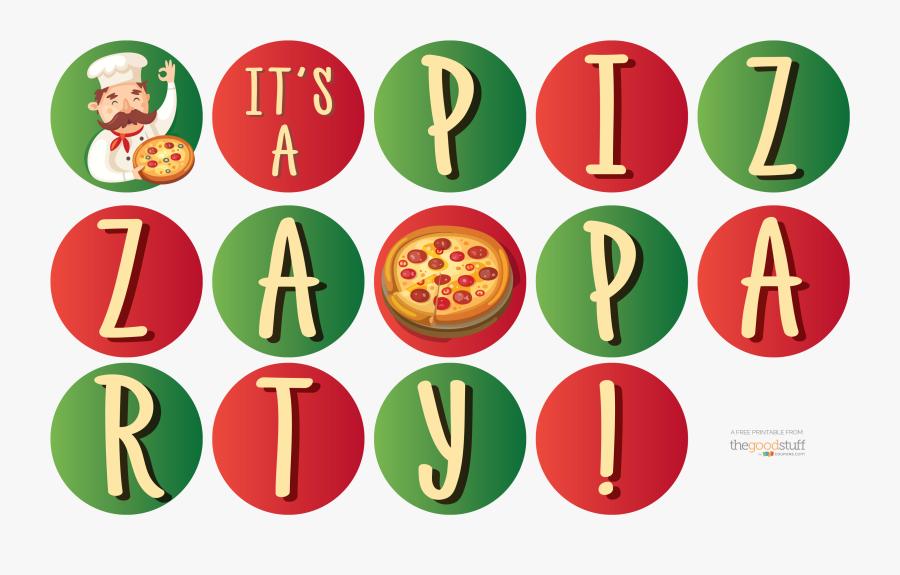 Transparent Pizza Party Clipart - Tes Buta Warna Tni, Transparent Clipart