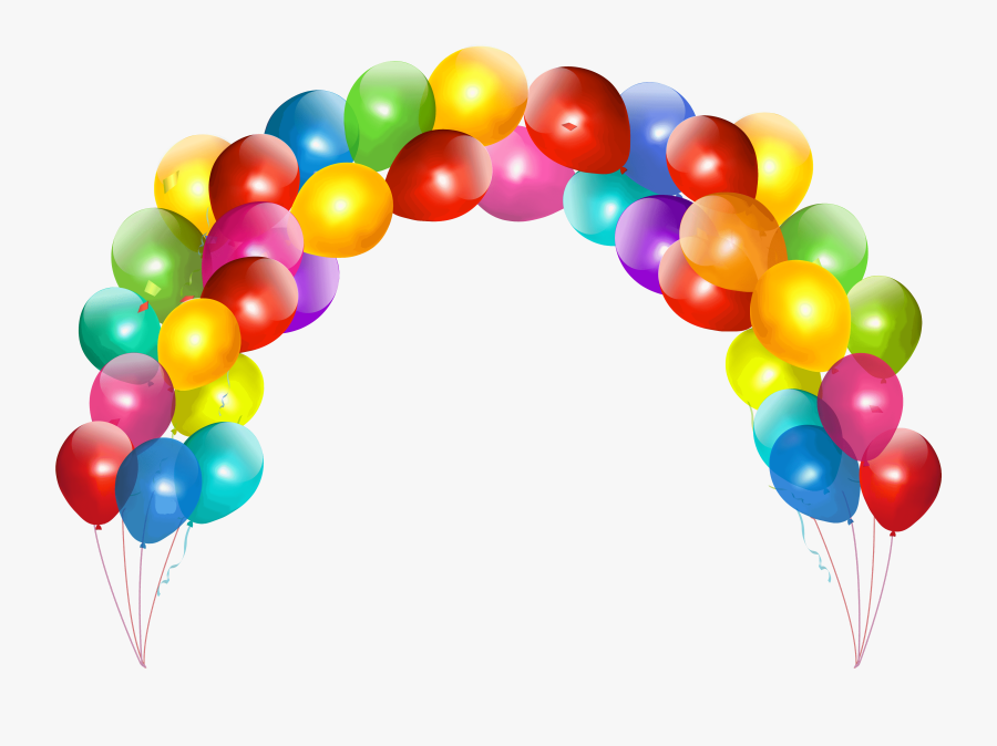 Gold Balloons Clipart Transparent Background Png - Balloons And Cakes Png, Transparent Clipart