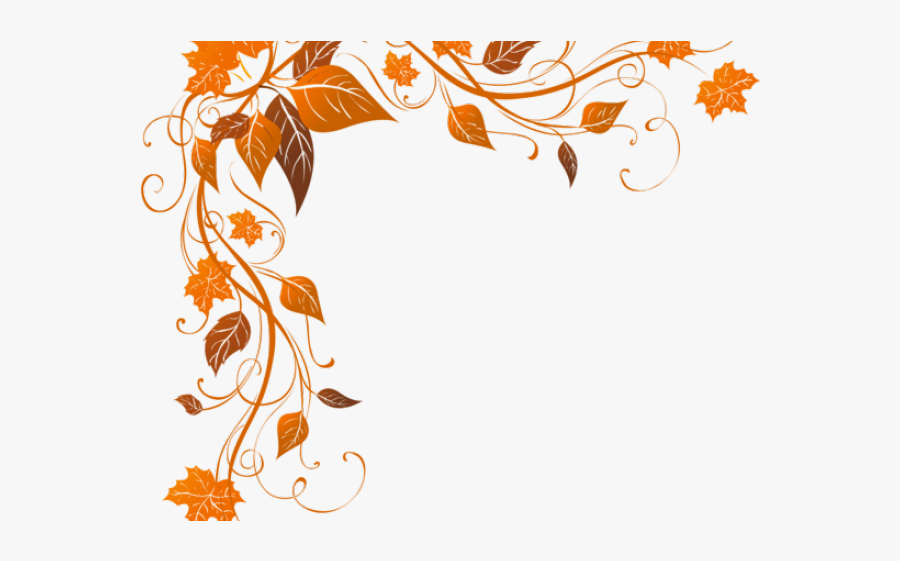 Fall Leaves Clipart Border, Transparent Clipart