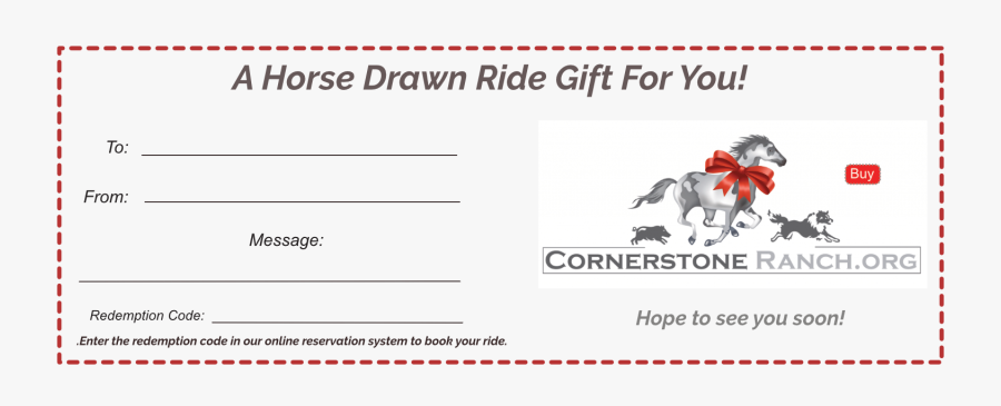 Gift Certificate Fillable - Horseback Riding Lessons Gift Certificate, Transparent Clipart