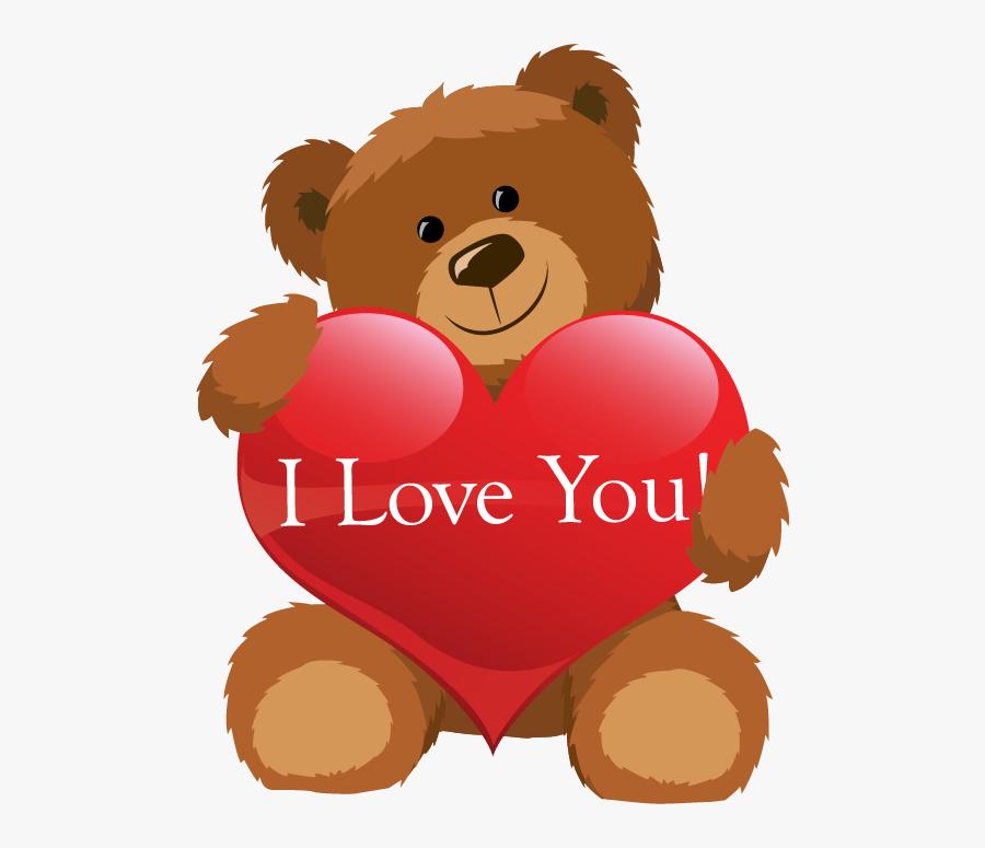 Teddy Bear Cartoon With Heart, Transparent Clipart