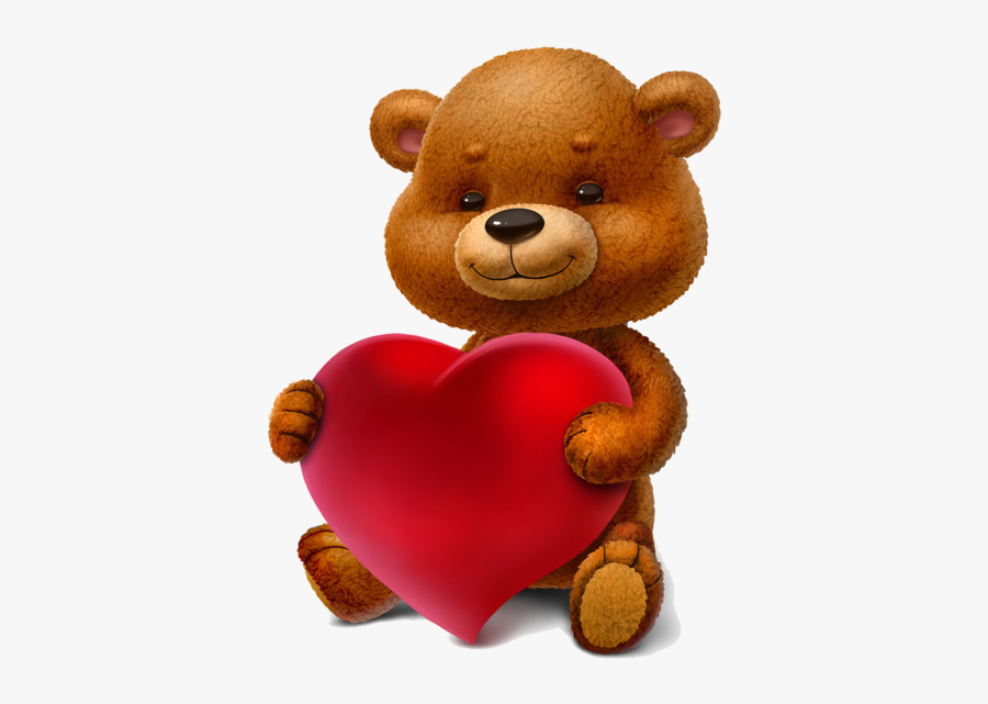 Day Clipart Stuffed Animal - Teddy Bear With Gift Png, Transparent Clipart