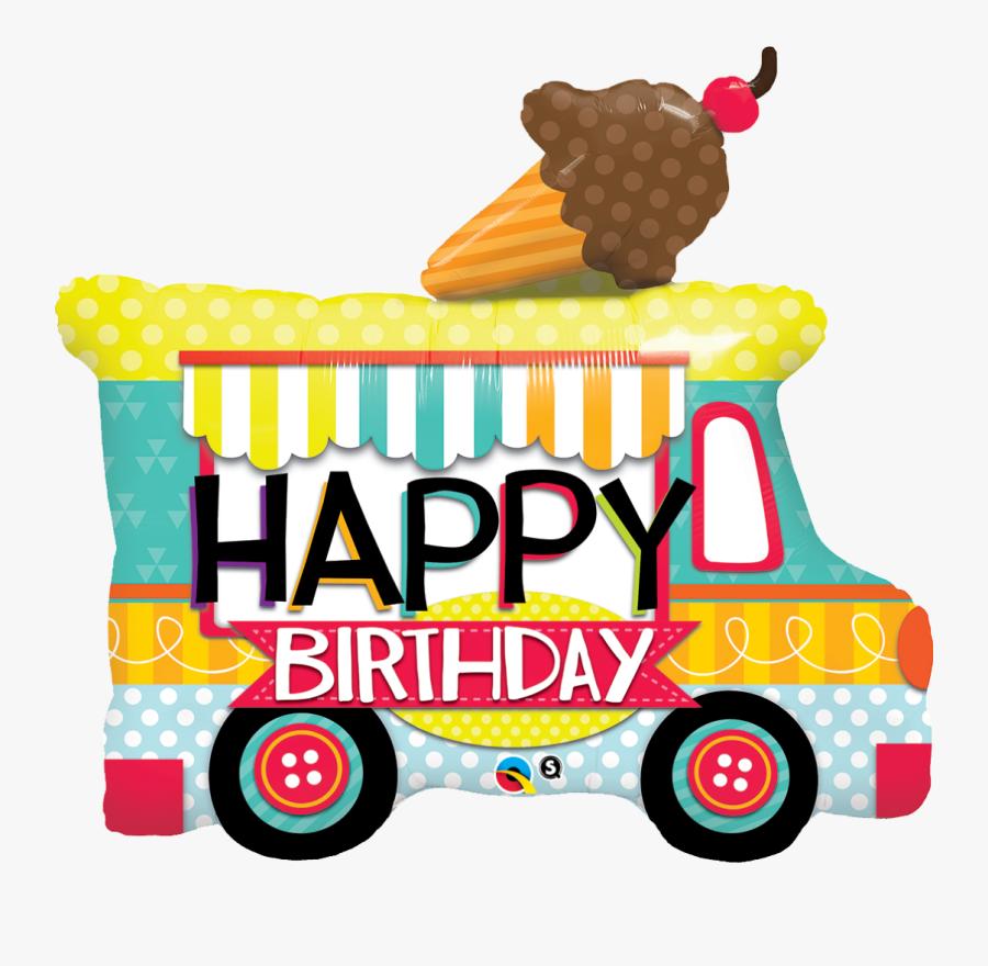 Happy Birthday Food Truck, Transparent Clipart