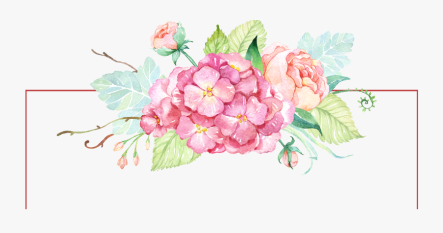 Flowers,flowering Peony,watercolor Paint,hydrangea,prickly - Flowers Watercolor, Transparent Clipart