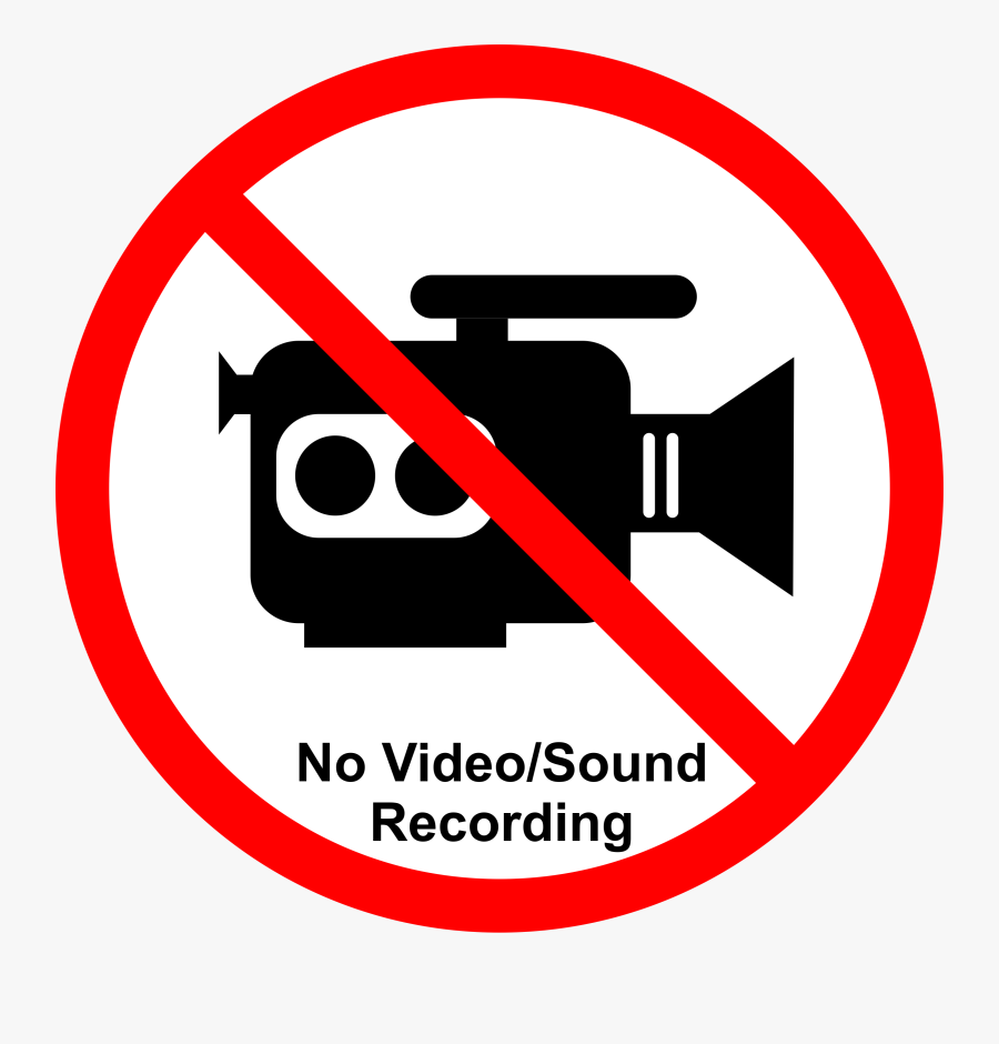 Recording/streaming Not Allowed - No Video Recording Png, Transparent Clipart