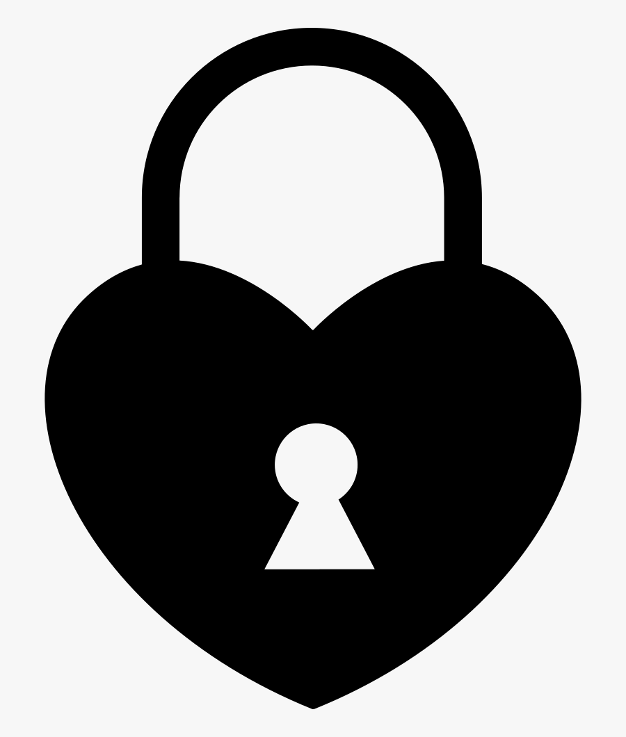 Heart Shaped Locked Padlock Comments - Heart Shaped Lock Vector, Transparent Clipart