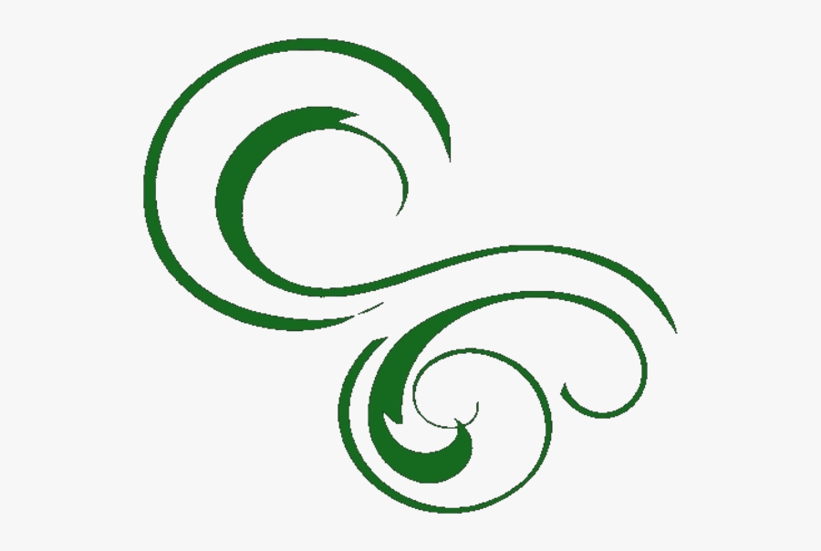 Transparent Free Swirl Clipart - Green Swirly Line Art, Transparent Clipart
