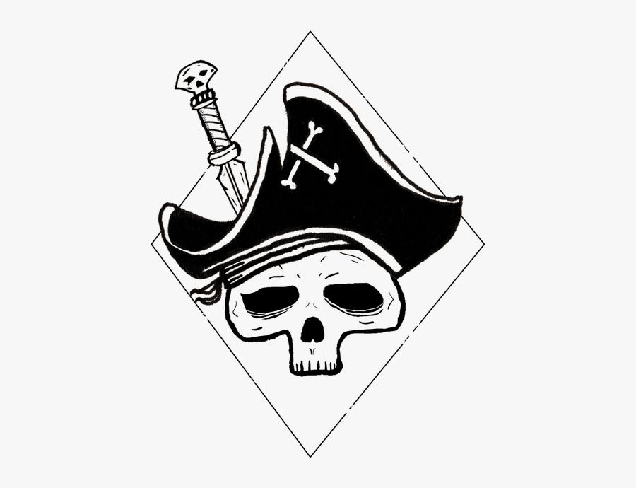 Skull Pirate Dagger - Gambar Sketsa Tengkorak Keren, Transparent Clipart