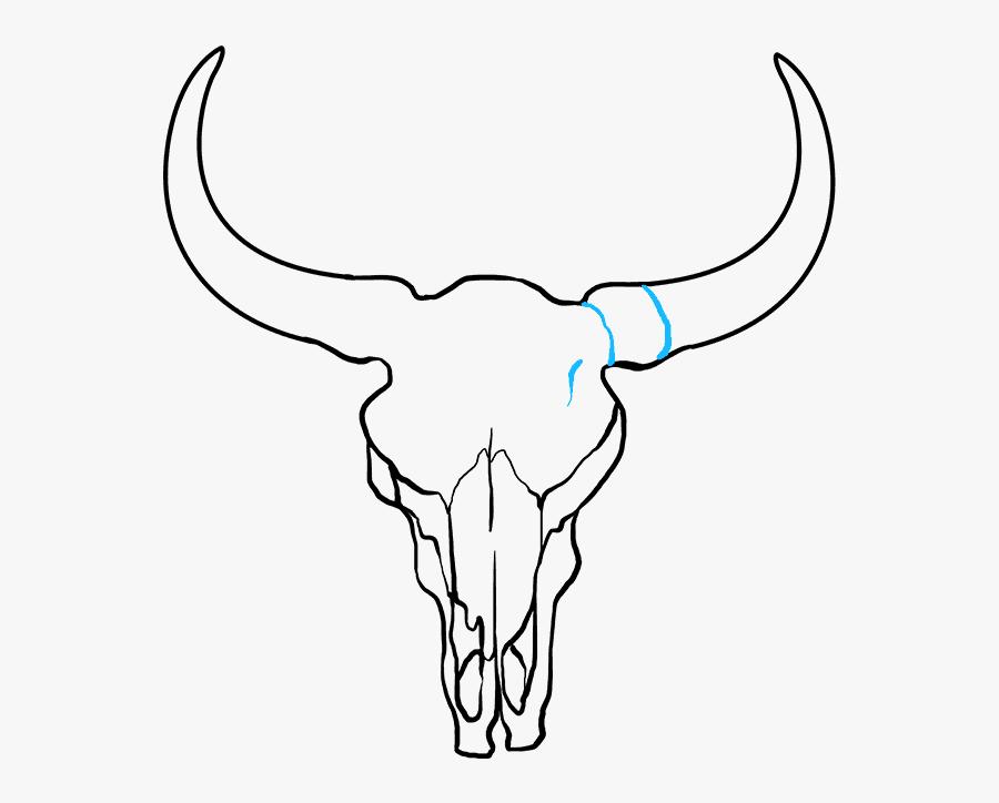 How To Draw Bull Skull - Draw A Bull Skull, Transparent Clipart