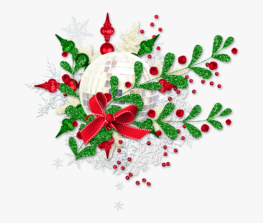 "Winter, Christmas, New Year""s Eve, Ornament - Floral Design, Transparent Clipart"