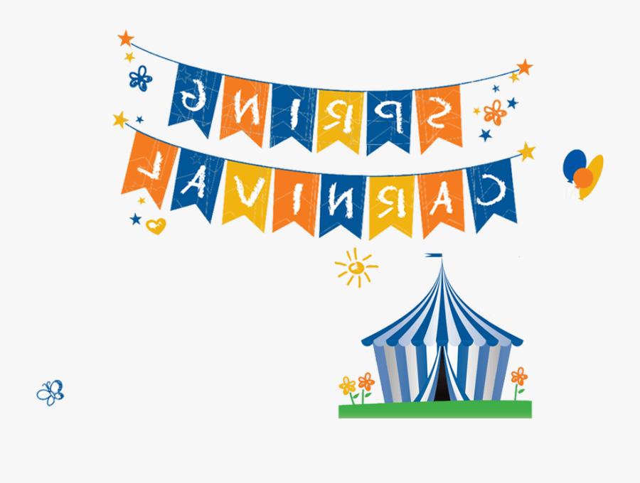 Carnival Flag Banner Clipart - Carnival, Transparent Clipart