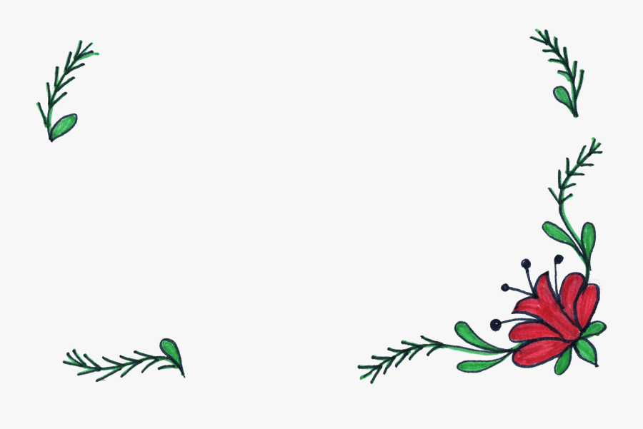 8 Flower Frame Drawing - Frames For Photos Design Drawing, Transparent Clipart