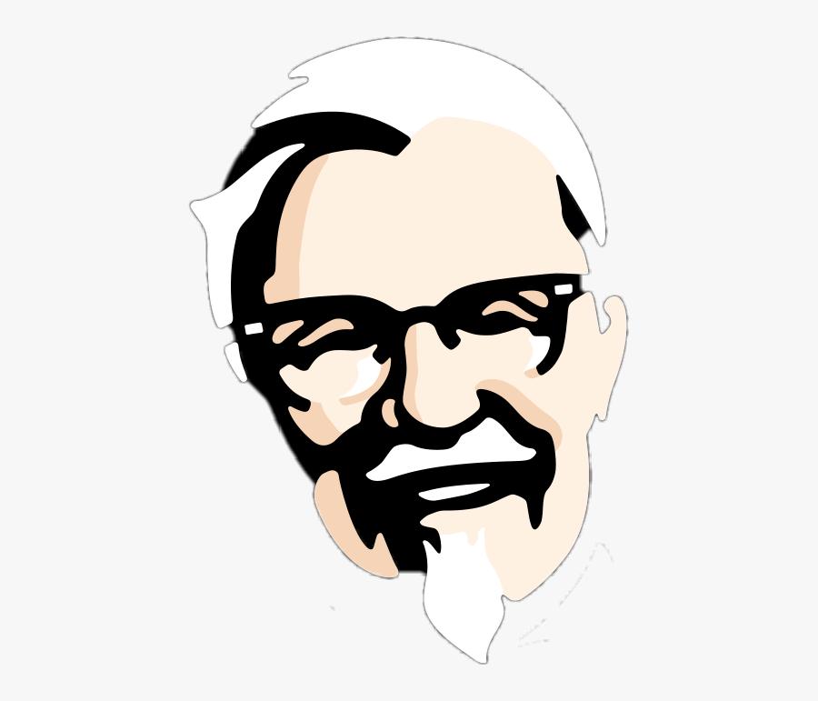 #kfc #face #logo #kentucky #fried #chicken - Kfc Face, Transparent Clipart