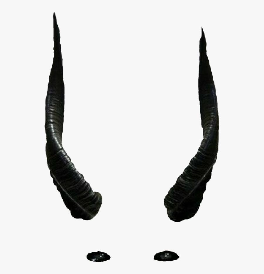 Clip Art Evil Horn - Black Demon Horns Png, Transparent Clipart