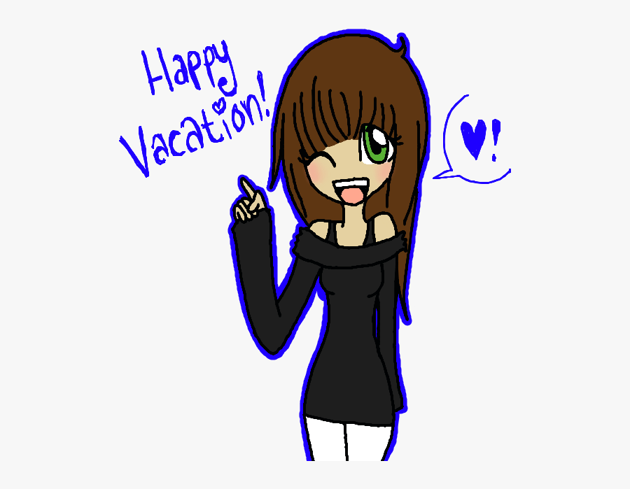 Happy Summer Vacation Everyone By Milcouna - Cartoon, Transparent Clipart