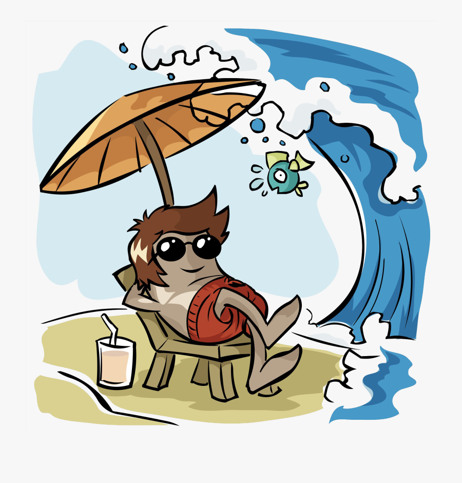 Holiday Summer Vacation Illustration - Summer Holidays Comic, Transparent Clipart