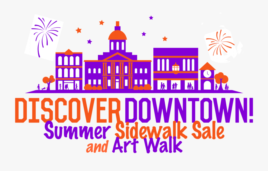 2nd Annual Summer Sidewalk Sale And Art Walk Downtown, Transparent Clipart