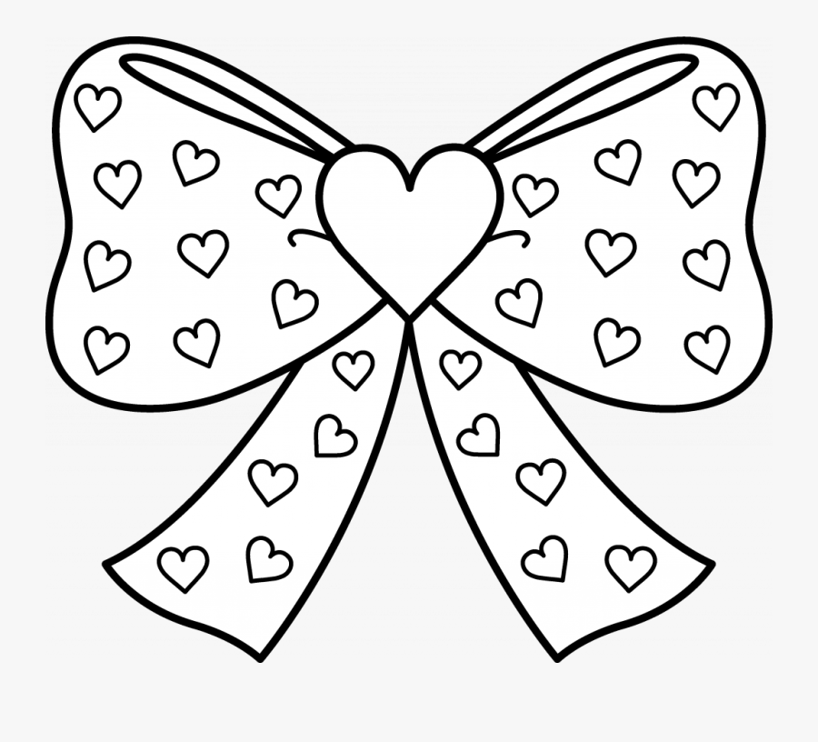 Sensational Bows Coloring Pages Cute Bow Page Christmas ...