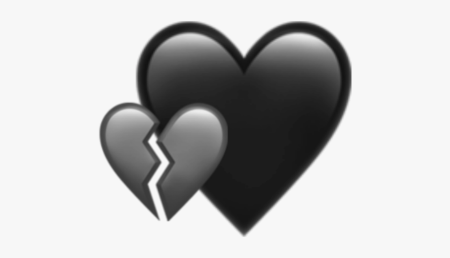 #heart #hearts #aesthetic #icon #overlay #background - Aesthetic Broken Heart Black Background, Transparent Clipart