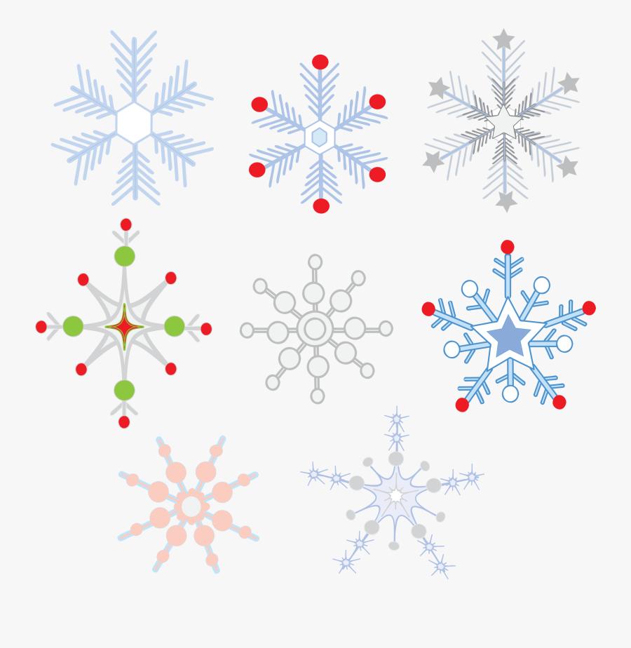 Clip Art Colorful Snowflakes - Svg Snowflakes, Transparent Clipart