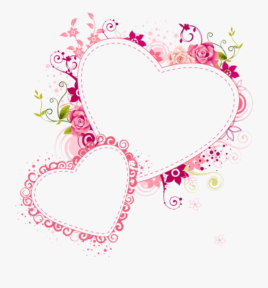 Transparent Valentine Borders Clipart - Transparent Background Heart Frame, Transparent Clipart