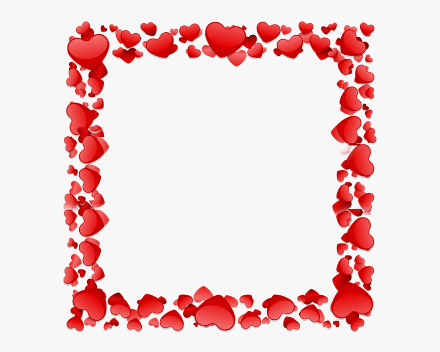 Heart Frame Png Clipart Borders And Frames Heart Clip - Frame Design Heart Png, Transparent Clipart