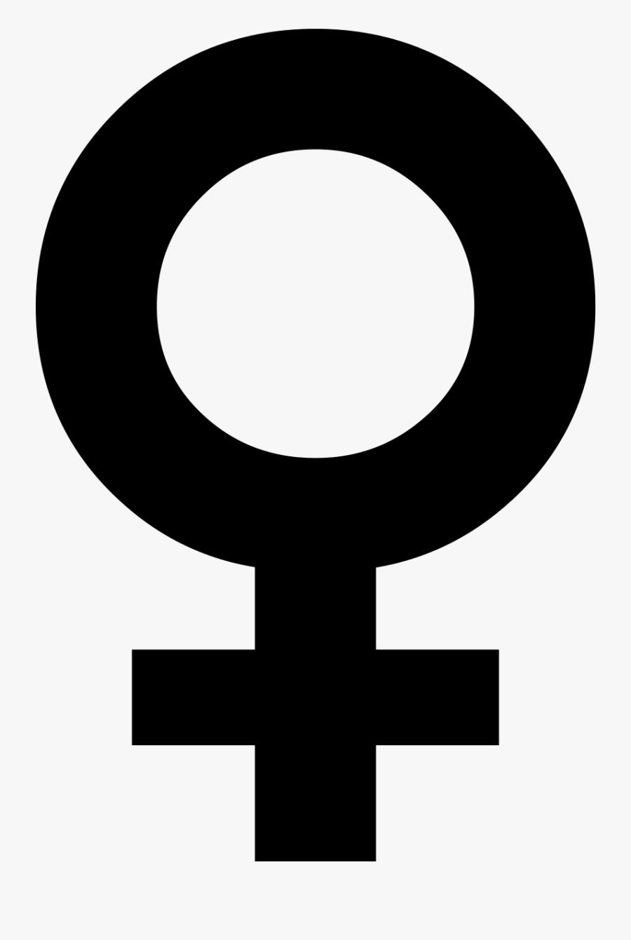 Female Symbol Vector - Female Symbol Png, Transparent Clipart