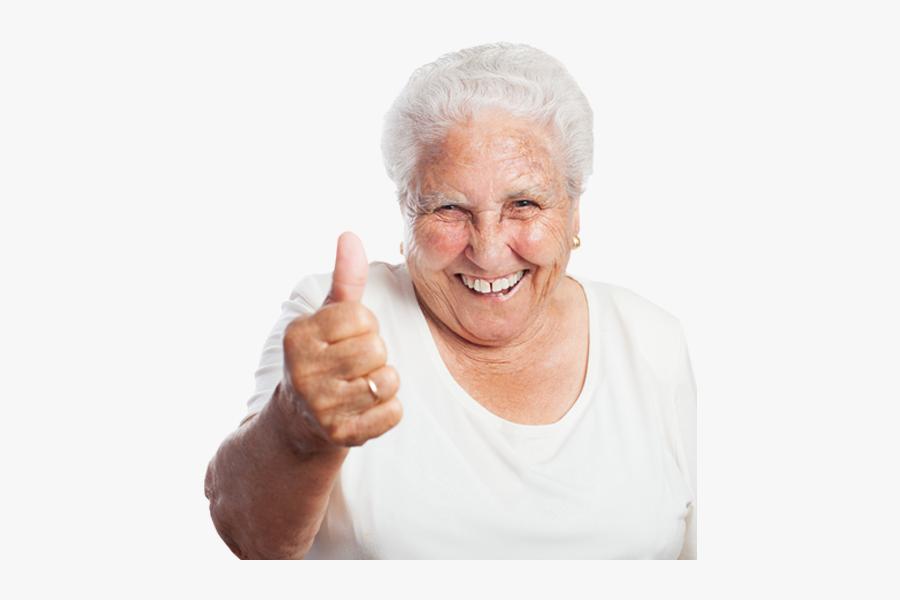 Clip Art Grandma Png - Old Woman Thumbs Up, Transparent Clipart