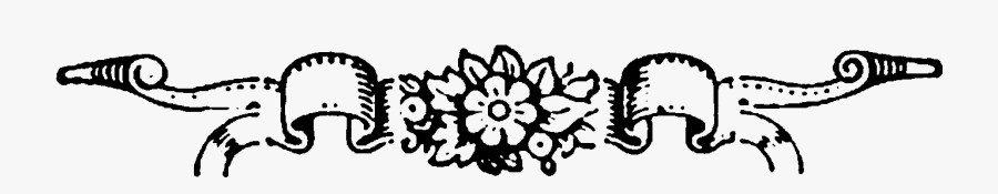 Top Border Design Png Black And White, Transparent Clipart