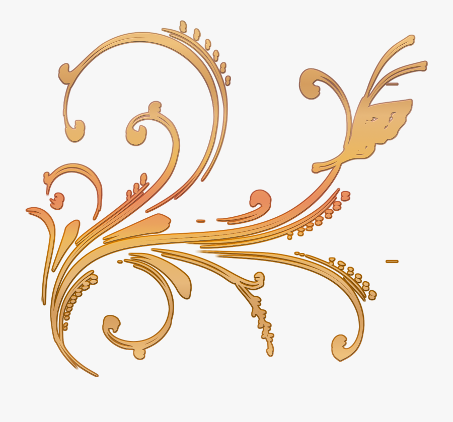 Clip Art Scroll Sticker Design With Ornate Vector And - Illustration, Transparent Clipart