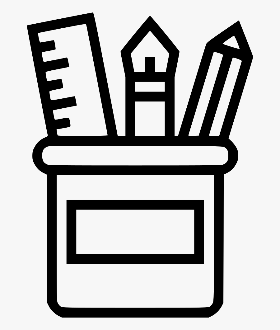 Office Supplies - Office Supplies Clip Art Black And White, Transparent Clipart
