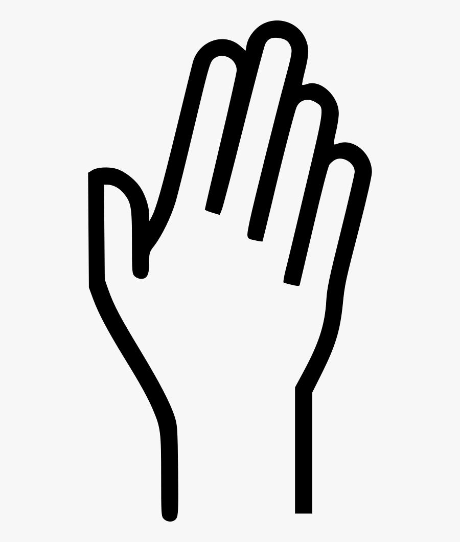 Fingers Wave Raise Raising - Raising Hand Png White, Transparent Clipart