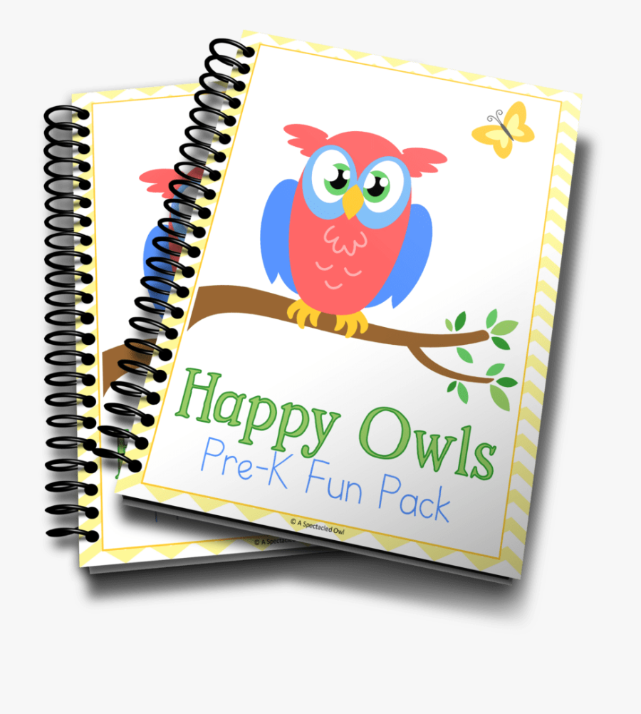 Happy Owls Prek Fun Pack - Tax Training Course, Transparent Clipart