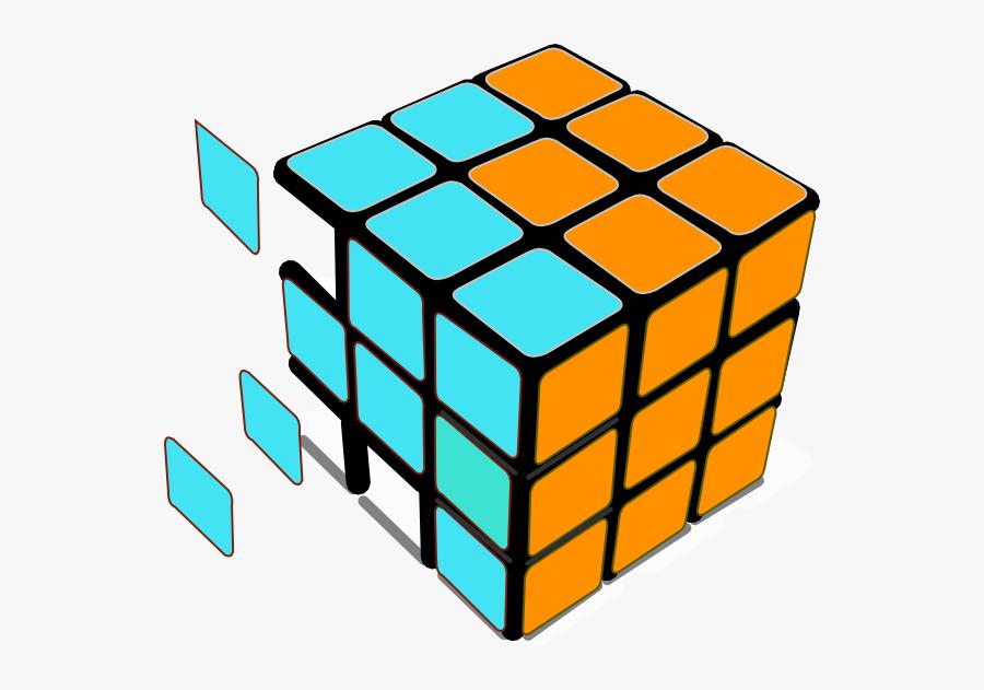Rubiks Cube Transparent Background, Transparent Clipart