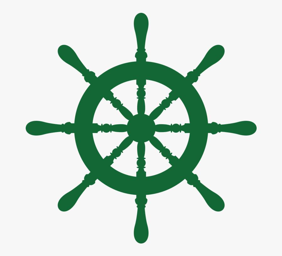 Ship Wheel Laker School - Vector Boat Steering Wheel, Transparent Clipart