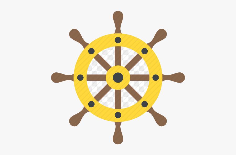 Ship Wheel Boat Captain Rudder Helm Steering Transparent - Christmas Symbols, Transparent Clipart