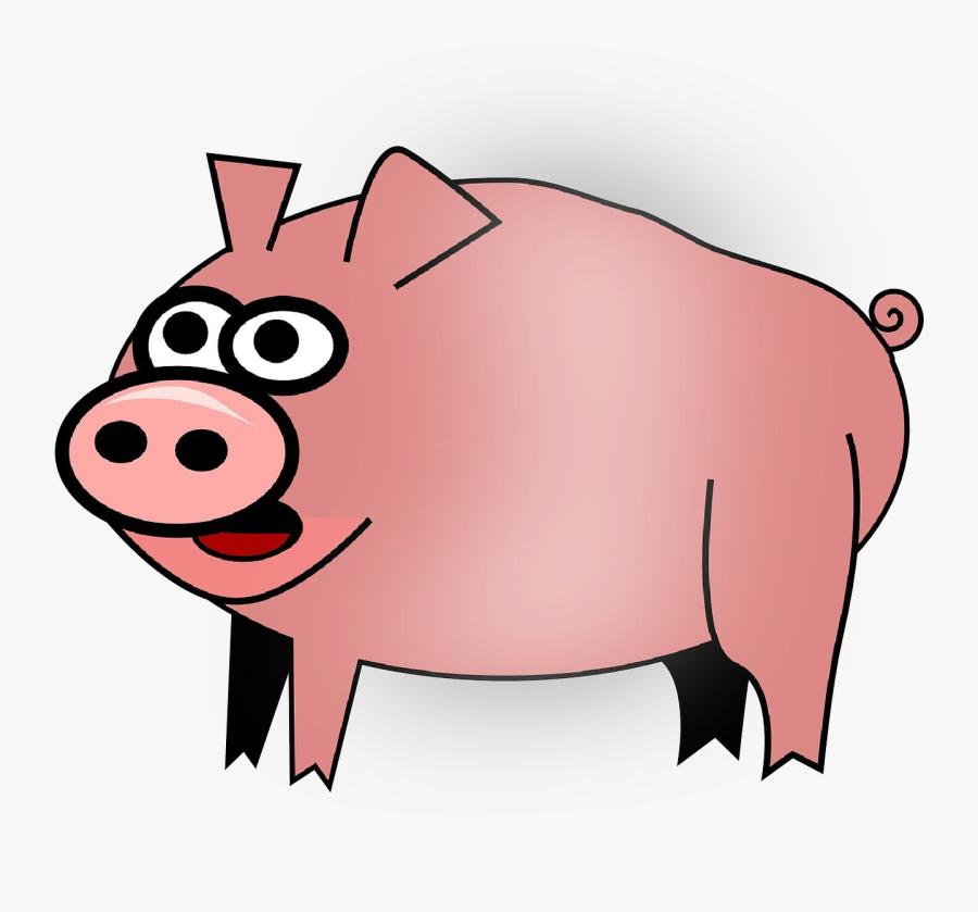 Clip Art Free Content Domestic Pig Pig Roast Portable - Clip Art, Transparent Clipart