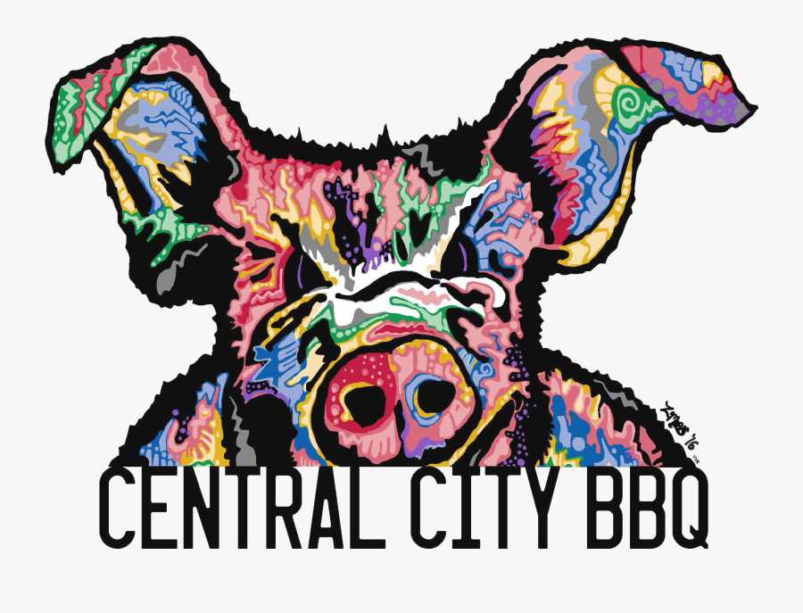 Central City Bbq - Central City Bbq Logo, Transparent Clipart