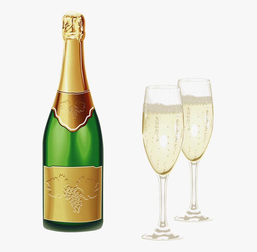 Green Wine Bottle Png, Transparent Clipart