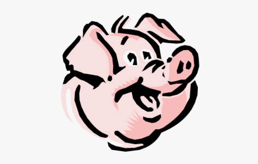 Wild Boar Drawing Pig Roast Clip Art - Pigs Face Clipart, Transparent Clipart