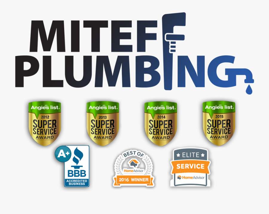 Miteff Plumbing - Home Advisor Top Rated, Transparent Clipart