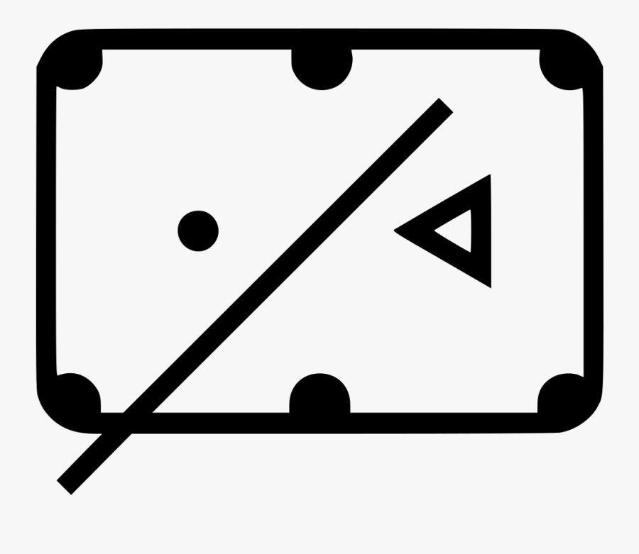 Billiards Table - Pool Table Icon Png, Transparent Clipart