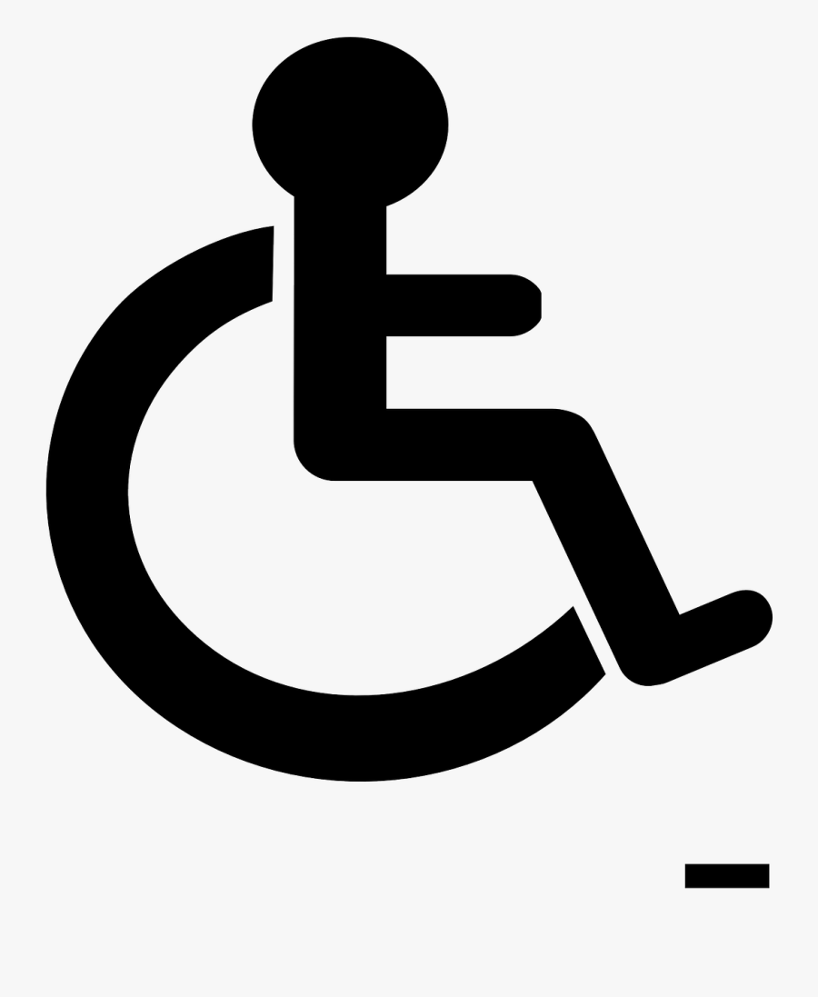 Person With Disability Sign, Transparent Clipart